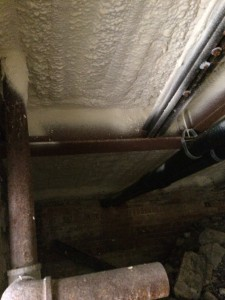 Closed Cell Spray Foam in Crawl Space reduces drafts and energy loss.