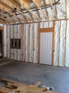 Exterior Wall Spray Foam - great barrier from the elements.