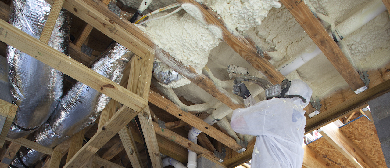 Closed Cell spray foam insulation subfloor