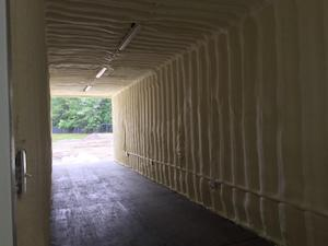 Spray Foam Insulation Shipping Container Mobile Office